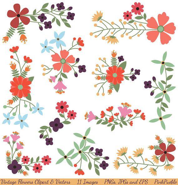 Decoration clipart cute flower Flowers Vintage on Pinterest Vectors