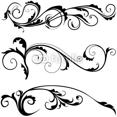 Decoration clipart decorative scrolling Online art alphabet clip alphabet