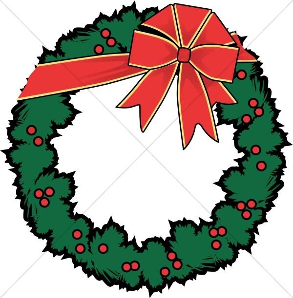 Decoration clipart holly Traditional Christmas Decoration Sharefaith Wreath