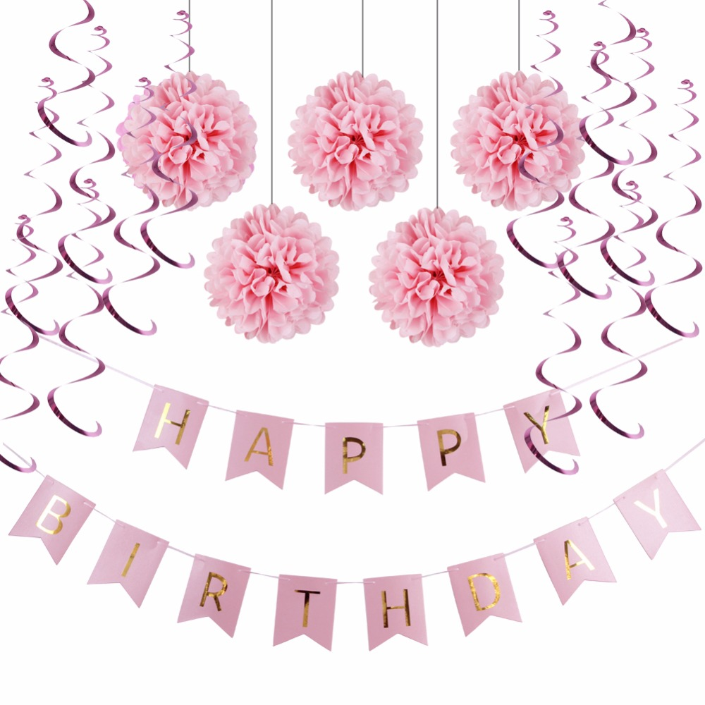 Decoration clipart pink party Pink : Party Banner+Hanging Suppier
