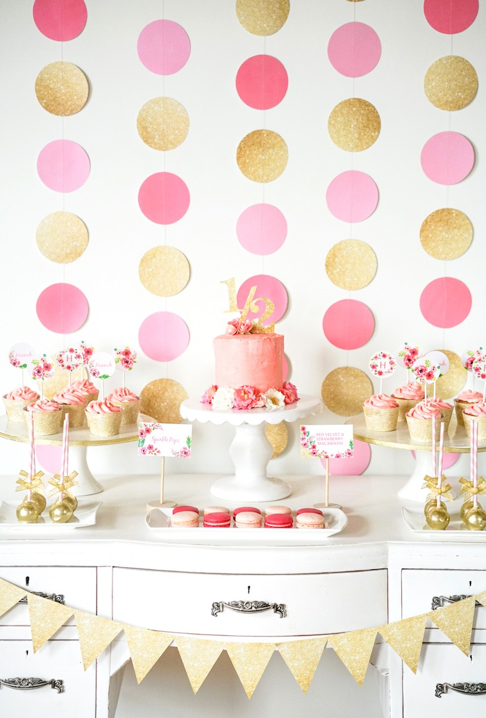 Decoration clipart pink party Kara's Pink Gold Party Ideas