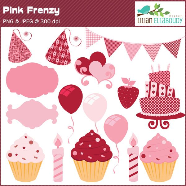 Decoration clipart pink party Best graphics Pretty 44 ideas