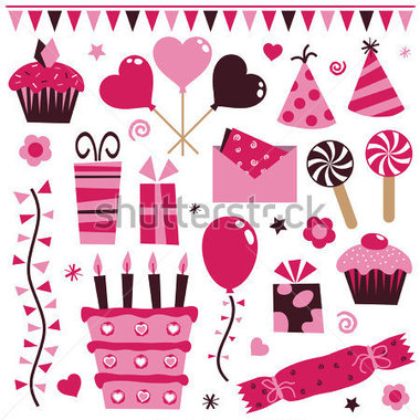 Decoration clipart pink party Clip (78+) art balloon Clipart