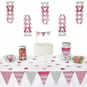 Decoration clipart pink party Triangle Birthday Party Piece Pink