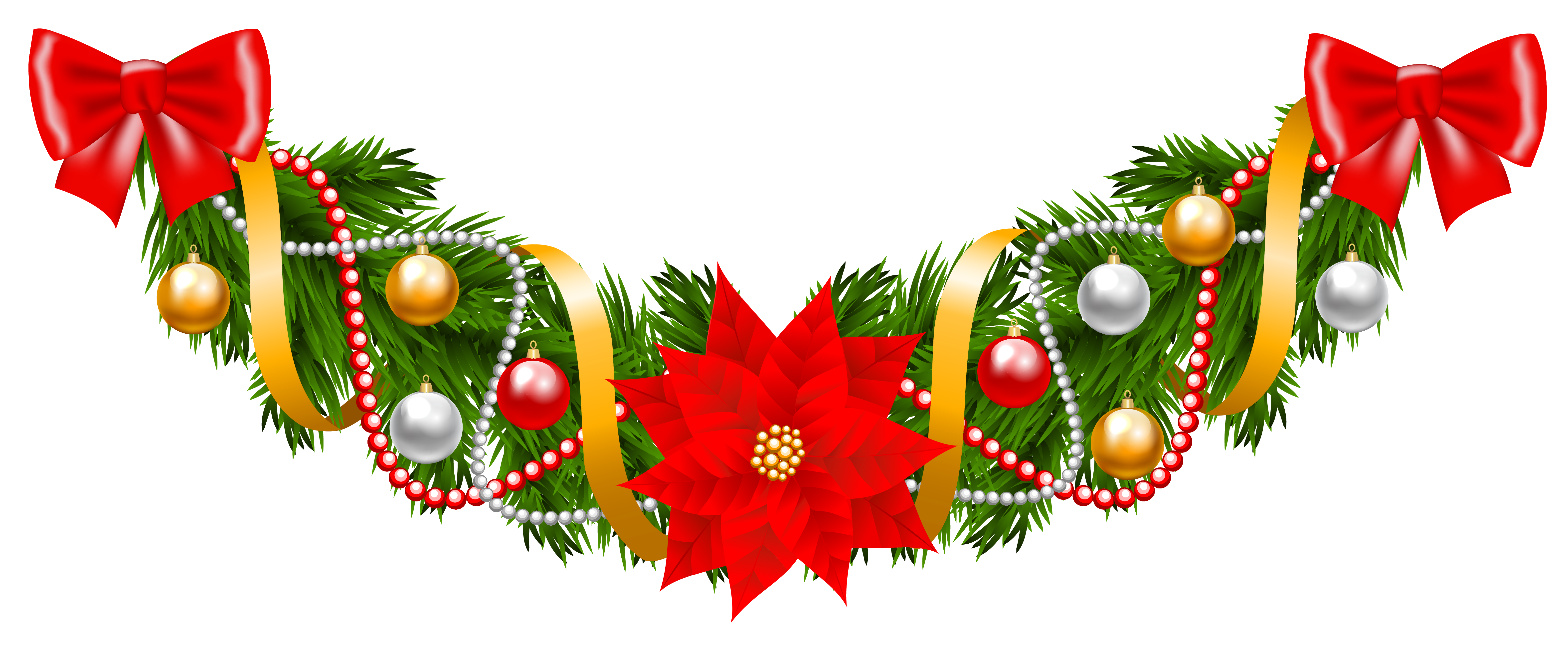 Poinsettia clipart holiday garland With Garland Deco Poinsettia size