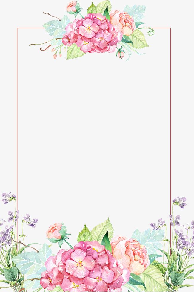 Decoration clipart pretty flower Psd flower borders downloads images