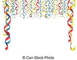 Decoration clipart streamer Confetti streamer Collection Decorations Clipart