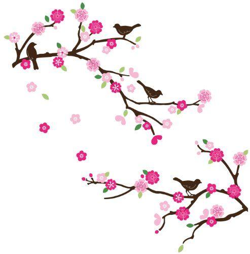 Cherry Tree clipart spring bird Branch on Pinterest best clip