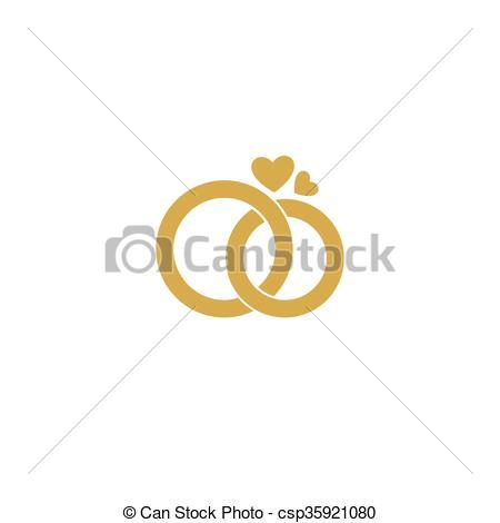 Decoration clipart wedding ring Wedding logo wedding Stylized Gold