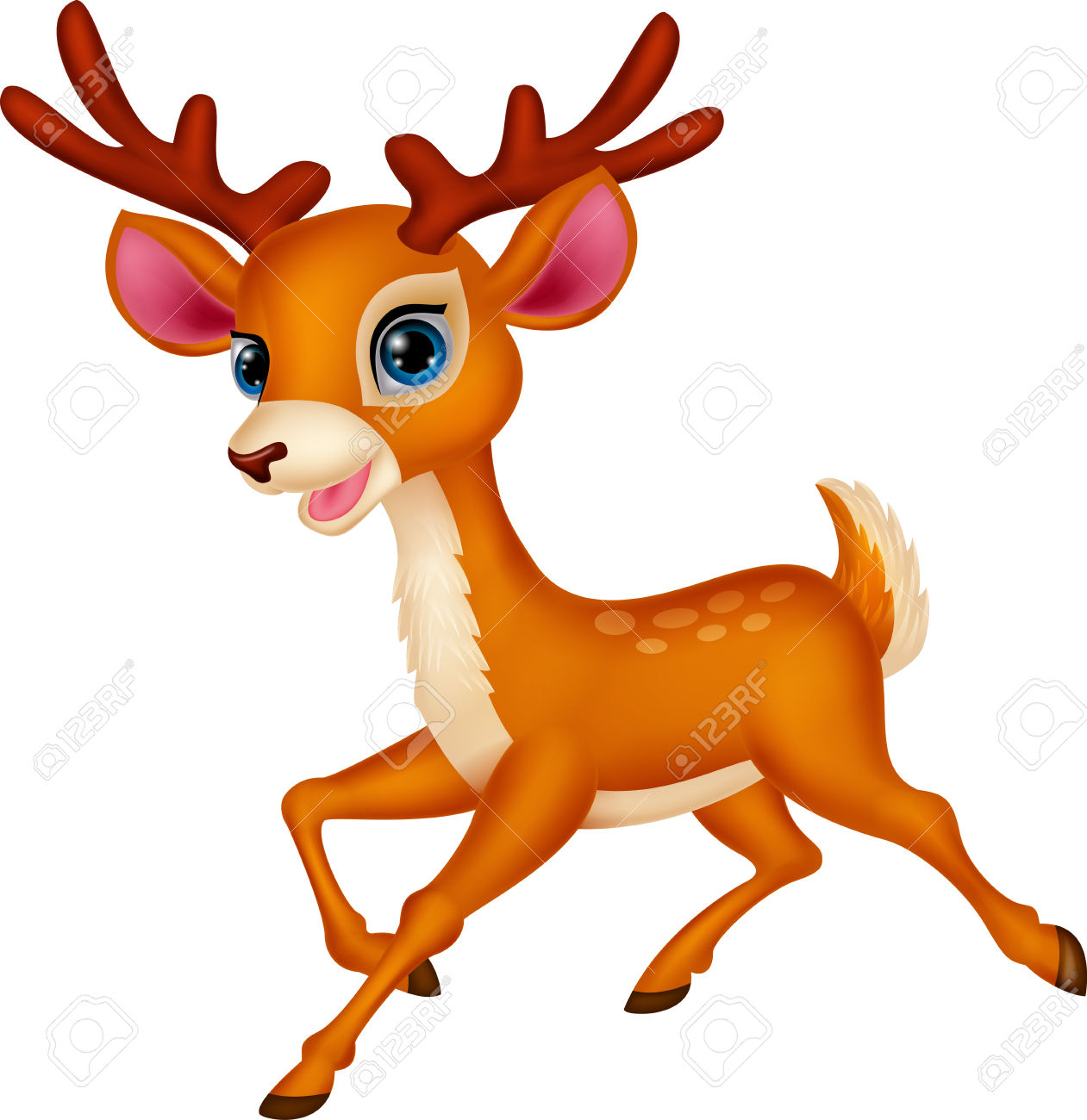 Buck clipart elk head Deer clipart Cartoon Christmas Clipart