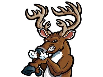 Buck clipart mean Rack Character Cartoon  Free