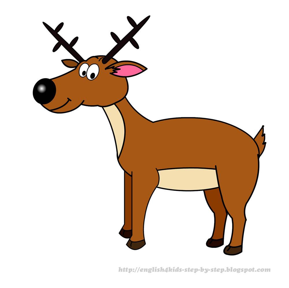Antelope clipart cartoon Deer clipart of Cartoon moose