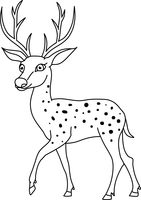 Black & White clipart deer Deer Vector outline Deer outline