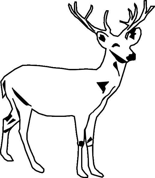 Dear clipart black and white Black Deer Clip Clipart Panda