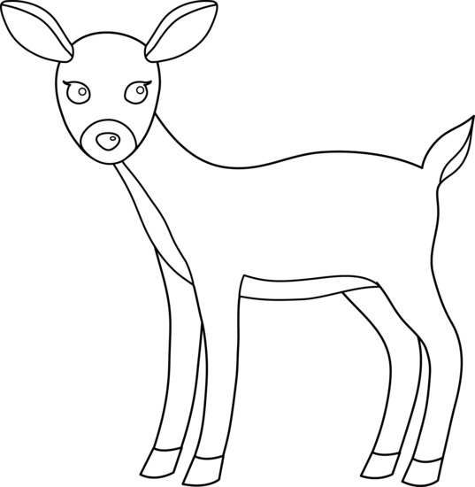 Dear clipart black and white 3 images clipart deer clipartwiz