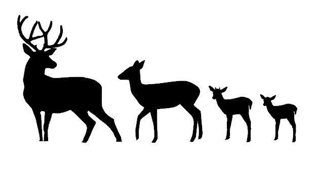 Buck clipart female deer Silhouette Images Free Vinyl deer