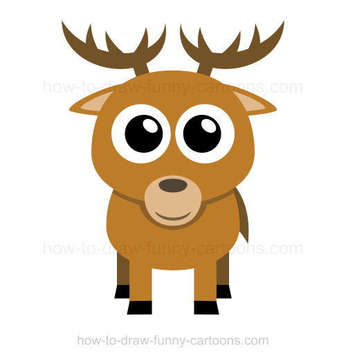 Drawn reindeer funny cartoon How deer draw to to