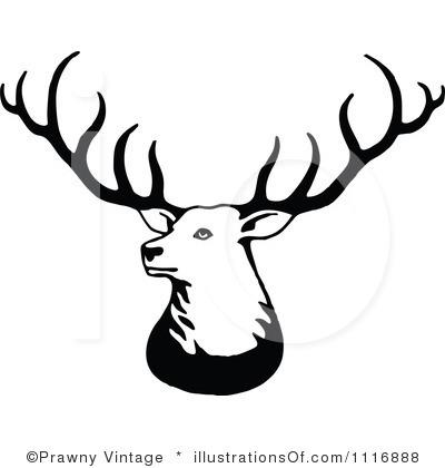 Buck clipart elk antler Black Free  Panda Deer