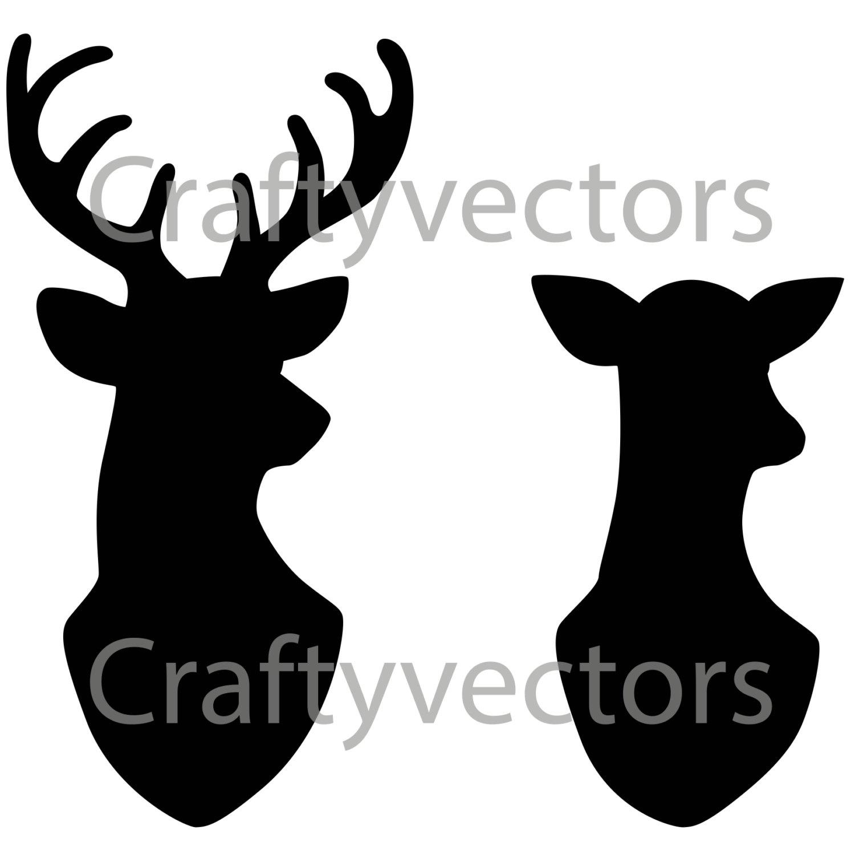 Buck clipart female deer Clipart head deer clipart Female