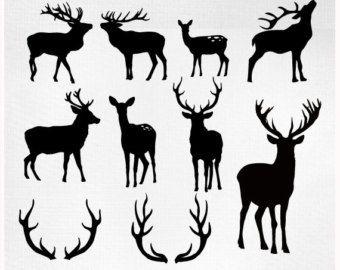Antler clipart doe head Silhouette ideas PNG deer Deer