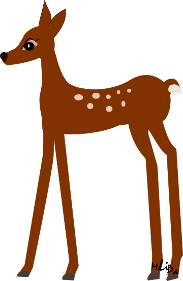 Buck clipart transparent  Deer Clipart Without Color