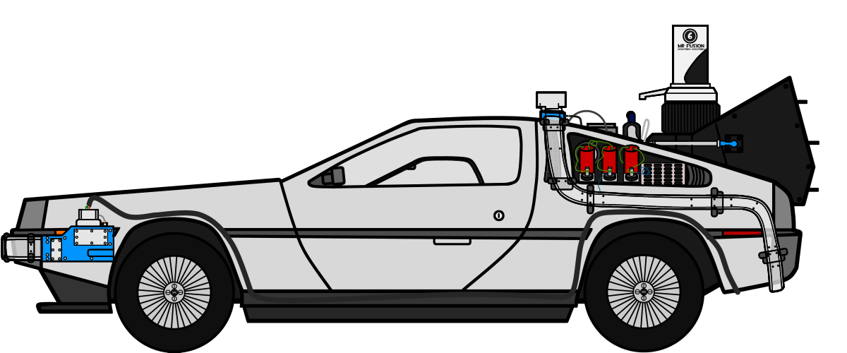 Delorean clipart Machine Delorean Time Clipart