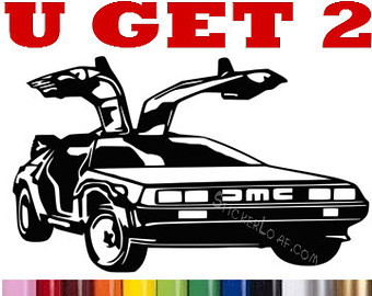 Delorean clipart Truck Etsy DMC McFly Back