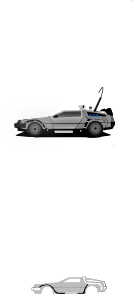 Delorean clipart Art Art Clker Art Delorean