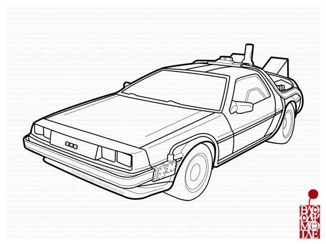 Back To The Future clipart delorean DeviantArt by BloodyMoogle Delorean:BackToTheFuture ver
