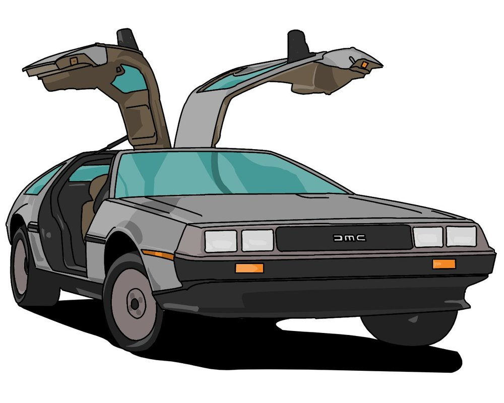Delorean clipart P00nlog DeviantArt p00nlog DeLorean on