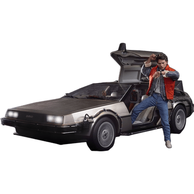 Delorean clipart Transparent StickPNG To Marty PNG