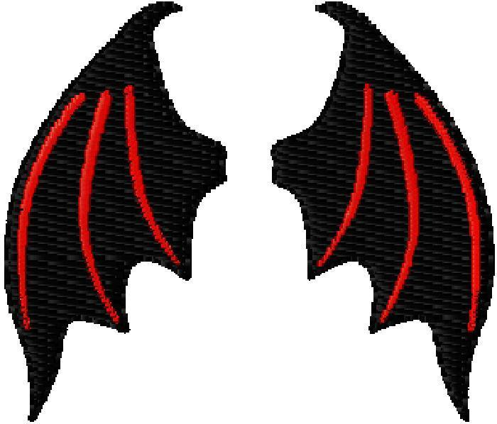 Wings clipart demon wings Demon Mini  Design Embriodery