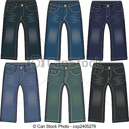 Denim clipart boy pants Denim jeans jeans with effect