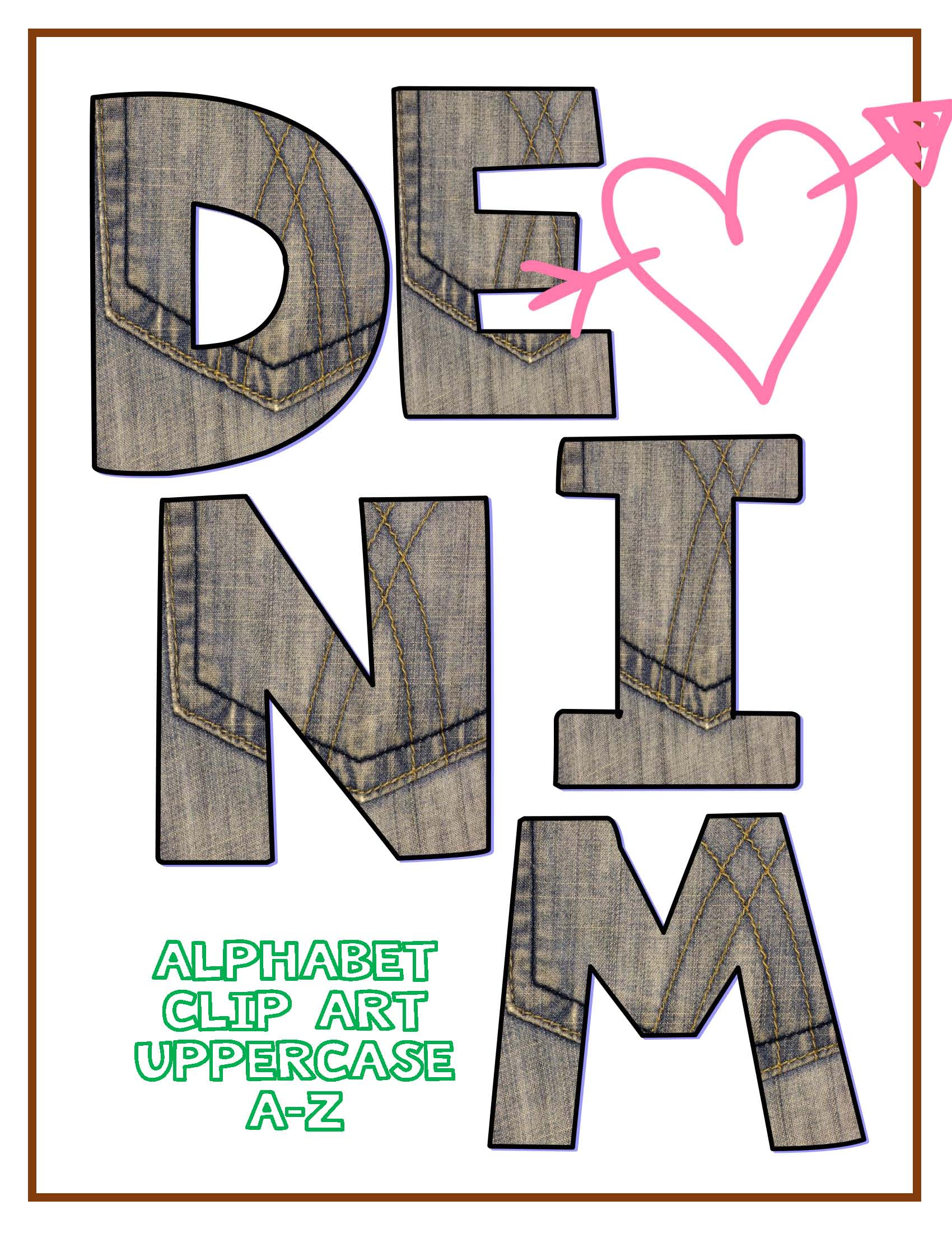 Denim clipart dark Clipart:  Alphabet Sets Alphabet