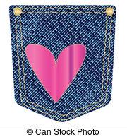 Denim clipart heart Pocket  of Clipart Pocket