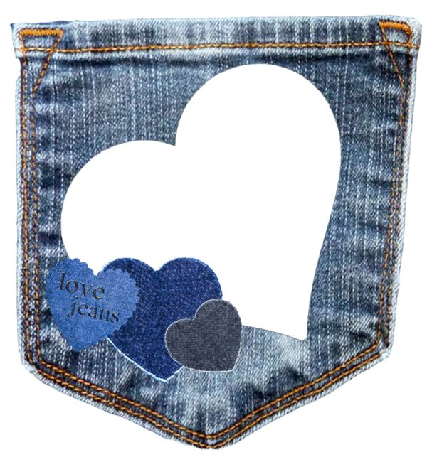 Denim clipart heart 1186 quadro images cadres png
