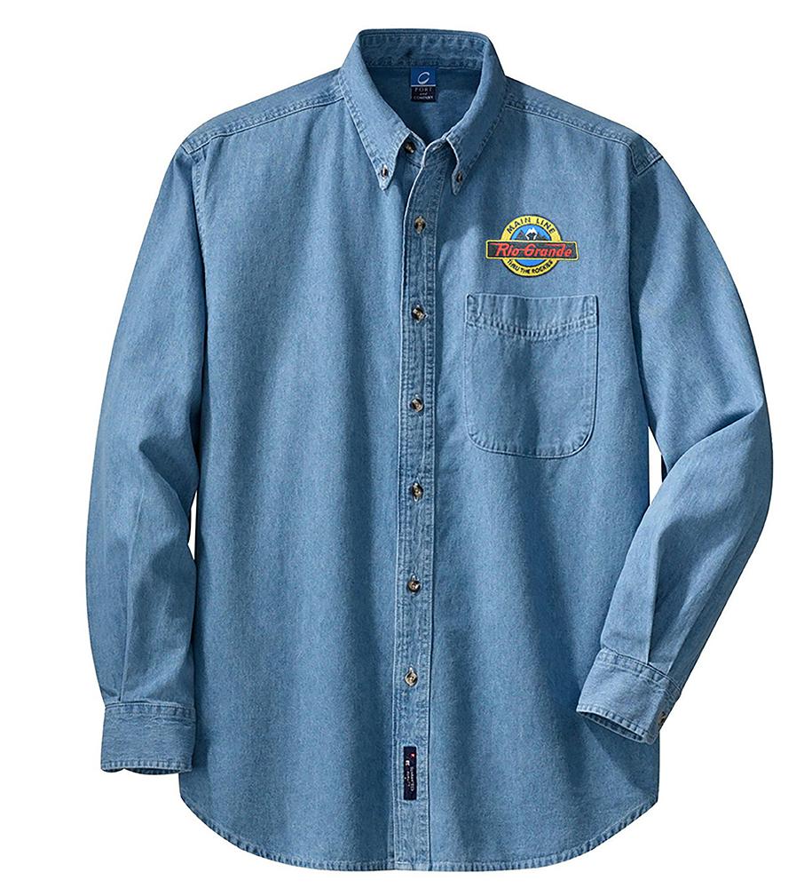 Denim clipart long sleeve shirt Embroidered Sales Sleeve Mainline Denim