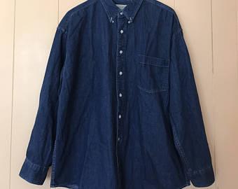 Denim clipart long sleeve shirt Clothing Bay Long Vintage Button