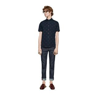 Denim clipart long sleeve shirt Down Shop Button Gucci shirt