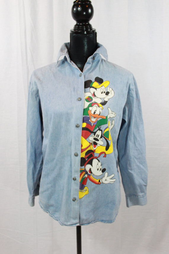 Denim clipart long sleeve shirt 90s Denim by Button Mouse