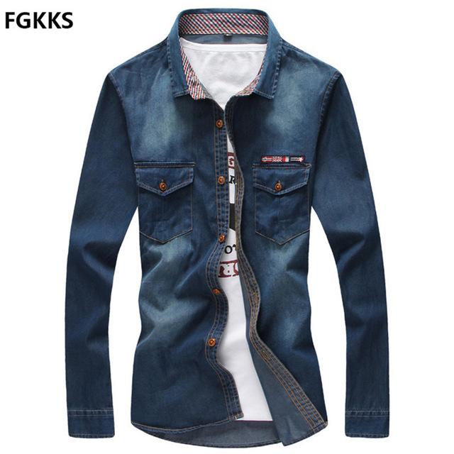 Denim clipart long sleeve shirt Brand  Brand Sleeve Slim