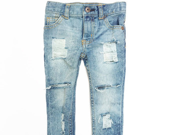 Denim clipart ripped jeans Jeans Ripped The Etsy for