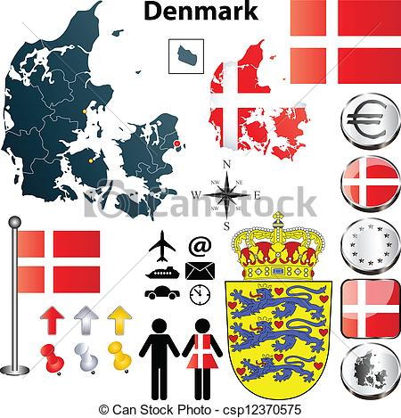 Denmark clipart Clip Denmark EPS  Denmark