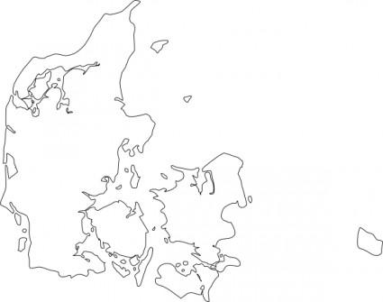 Denmark clipart Art Of Map Denmark Denmark