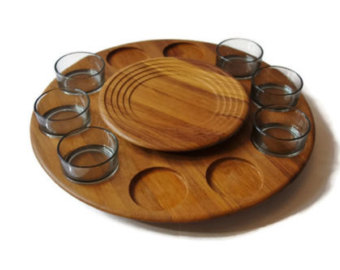 Denmark clipart cookie tray Teak Signed Tray Serving 1964