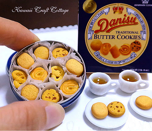 Denmark clipart cookie tray Doll Miniature Food Metal Food