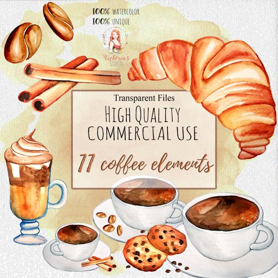 Denmark clipart croissant Coffee Coffee coffee  cinnamon