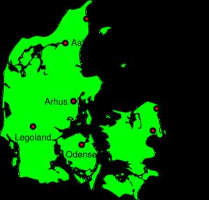 Denmark clipart denmark Online Clker Clip Map art