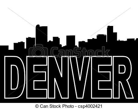 Denver clipart Denver on csp4002421 black Clipart