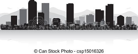 Denver clipart Denver of skyline Denver silhouette